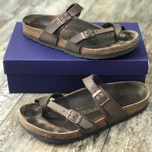 Birkenstock's sandals brown leather